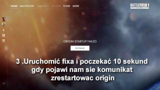 Battlefield 1 beta origin startup failed Jak naprawić FIX