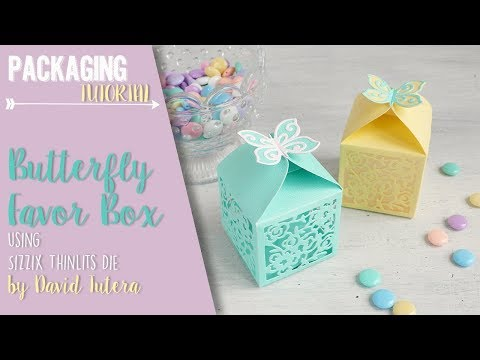 Butterfly Favor Box using Sizzix Thinlits Die by David Tutera