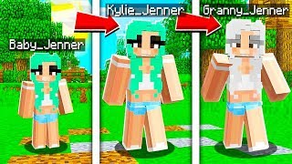 A Day in The Life of KYLIE JENNER in Minecraft!