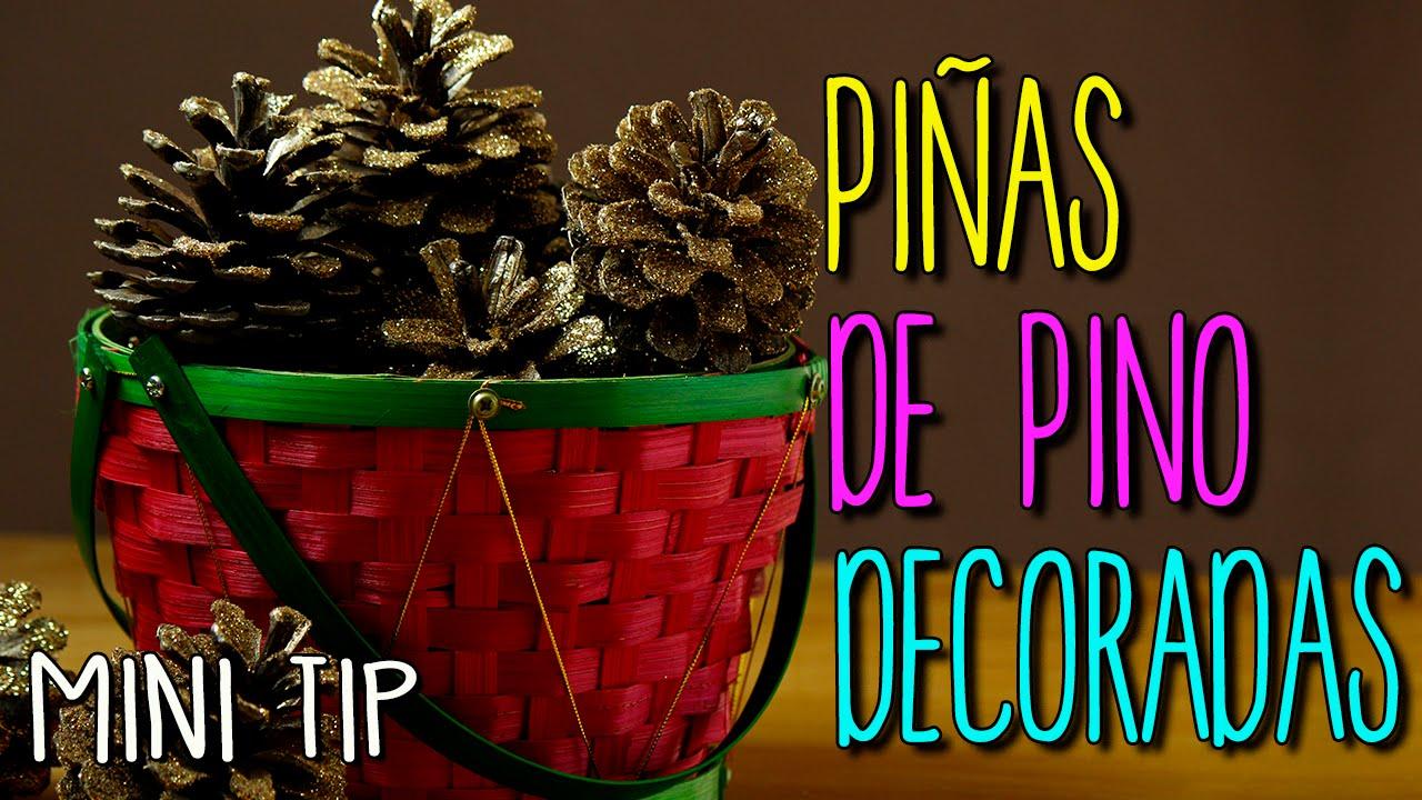 Adornos navide os para mesa diy de navidad en 5 minutos navidad catwalk mini tip 19 - Adornos navidad con pinas ...