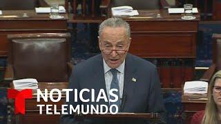 El senador Chuck Schumer presenta los argumentos a favor del juicio político contra Trump