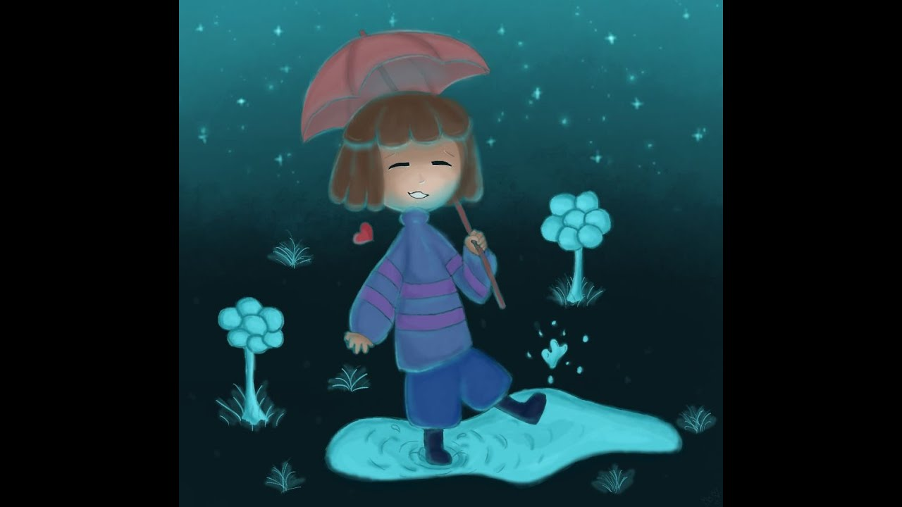 undertale frisk in waterfall - photo #23