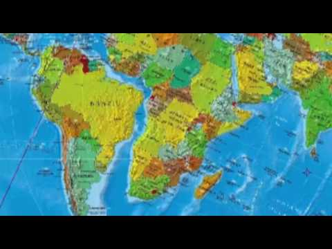 Map Brazil-Africa