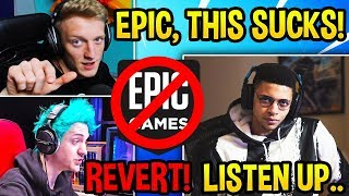 ALL STREAMERS *ANGRY & EMOTIONAL* Fortnite is RUINED by BAD UPDATES! - Fortnite Moments