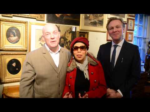 TOM KEANE ,JENNIE MATTHIAS AND PAUL HAYES TALKING ABOUT CHARITY AUCTION