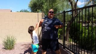 Ice Bucket Challenge Rick Bombella and Alexa Bombe