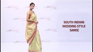 How to Wear South Indian Style Wedding Saree | South Indian Bridal Style Sari Draping