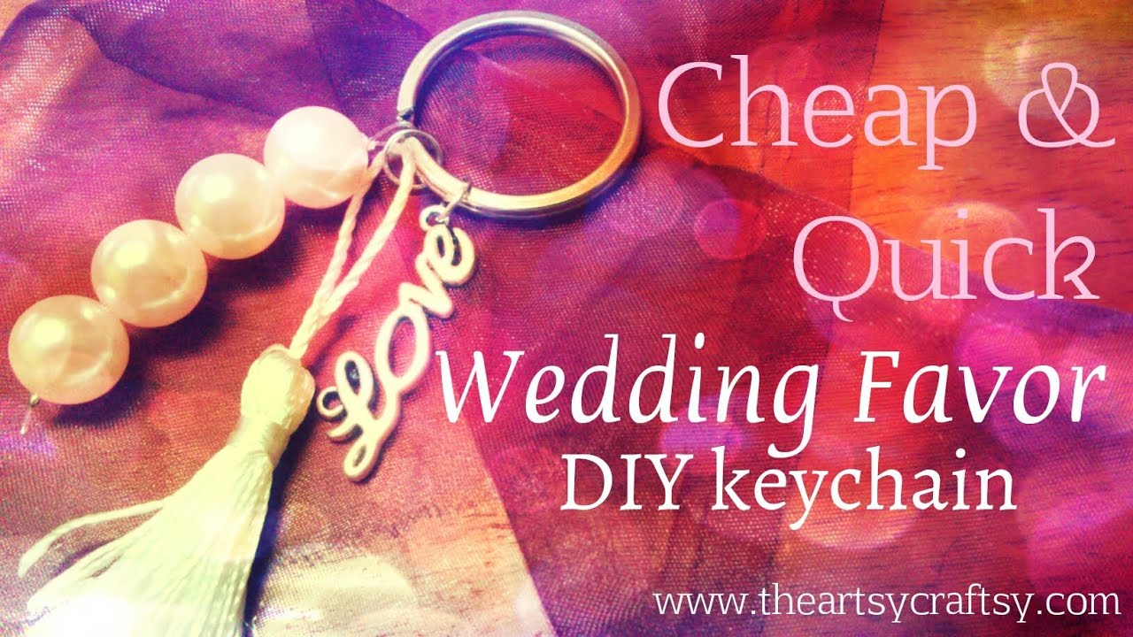 How to make a wedding favor keychain - YouTube
