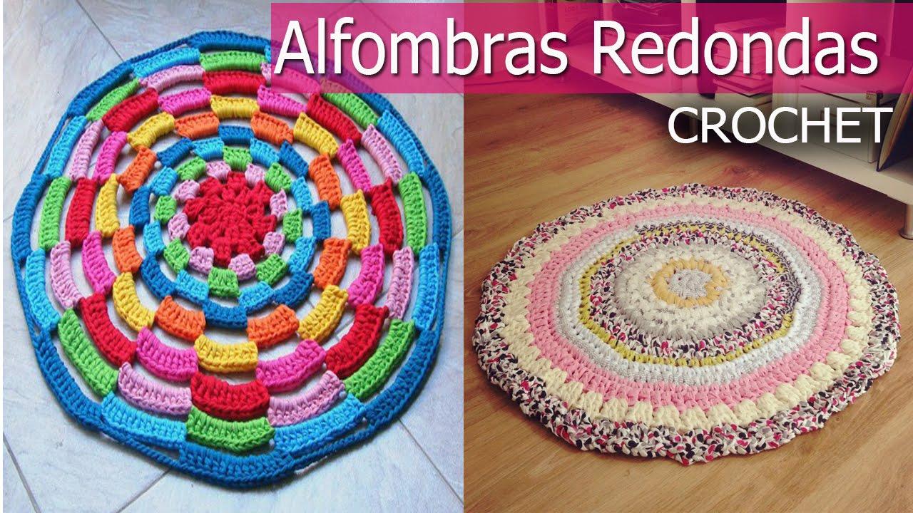 Alfombras redondas tejidas a crochet o ganchillo dise os for Alfombras artesanales tejidas a mano