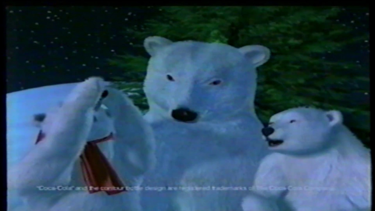 Coca-Cola Classic Soda Christmas Tree Holiday Polar Bears TV ...