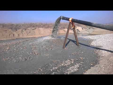Dragflow pump HY85HC- the pump output on the mixture of sand and gravel