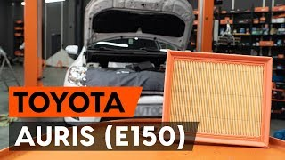 Kaip pakeisti variklio oro filtras TOYOTA AURIS 1 (E150) [AUTODOC PAMOKA]