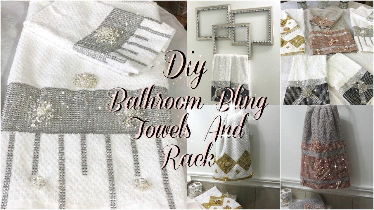 Bathroom Decor Ideas Diy Glam Decorative Towels Diy Dollar Tree Bathroom Towel Holder Youtube