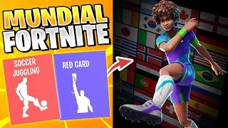 World Cup in Fortnite - All New Dances, Skins and Emotes of Fornite Battle Royale!!