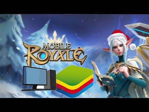 Mobile Royal: Jogo de estratégia com um gráfico 3D INSANO!!! Jogando Mobile Royal no BlueStacks 4!!! - Omega Play