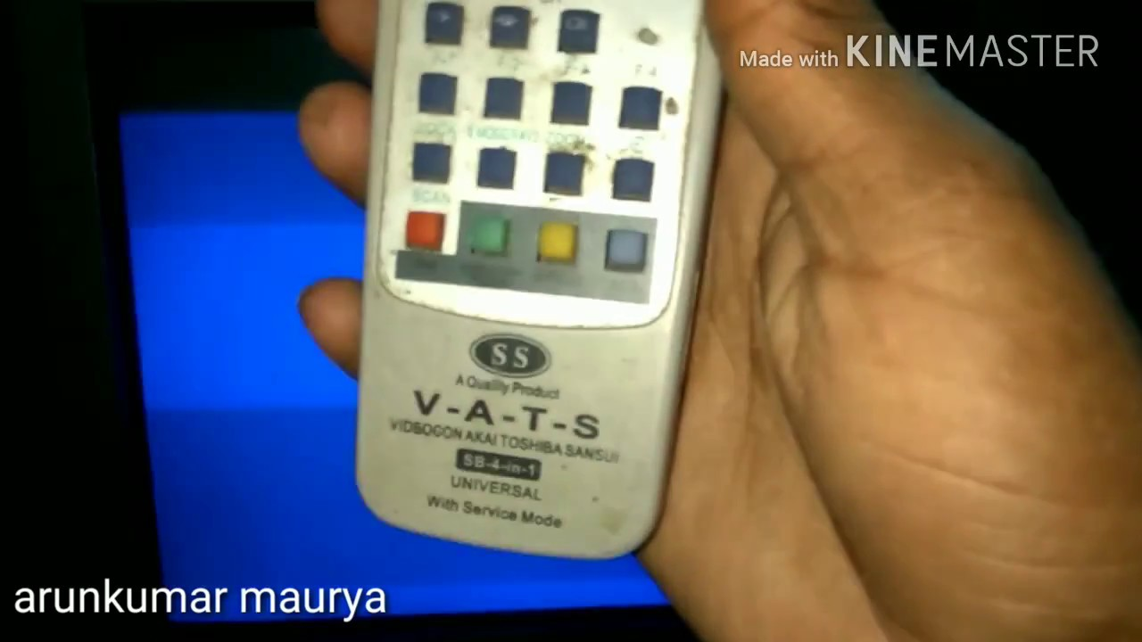 How to open service mode in Videocon CRT TV for setting vertical size
