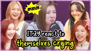 ITZY reaction to their Crying Scene(/Meme) in Ryujin's birthday party