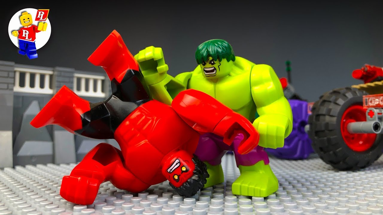 Lego HULK vs RED HULK 🔴 REVENGE 🔵 Stop Motion Animation 2018
