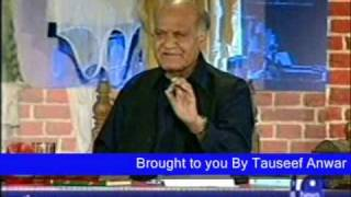 Anwar Masood Urdu Funny Poetry on Geo part 2