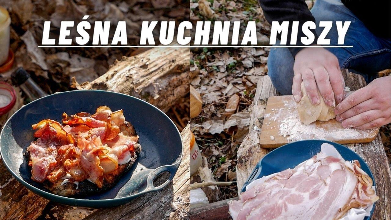 Bushcraft- biwak z nocką i leśna kuchnia Michała.