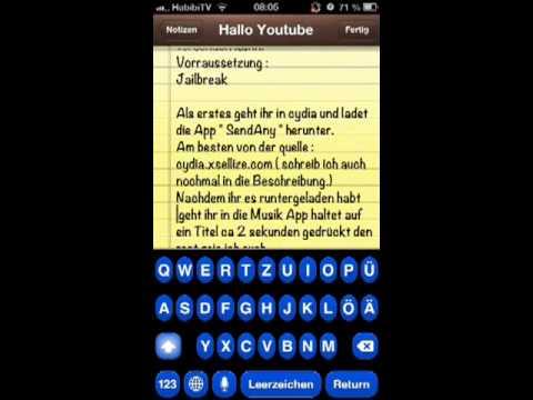 iPhone WhatsApp Musik senden