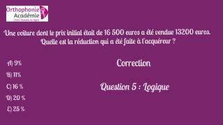 Concours Ortho Caen QCM logique 5
