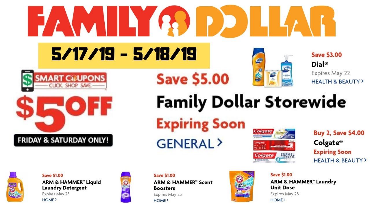 Family Dollar | $5 off $25 | All digital coupon breakdowns - 5/17/19 -  5/18/19