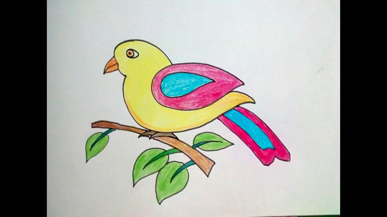 How To Draw Bird For Kids Bird Drawing For Kids Step By Step