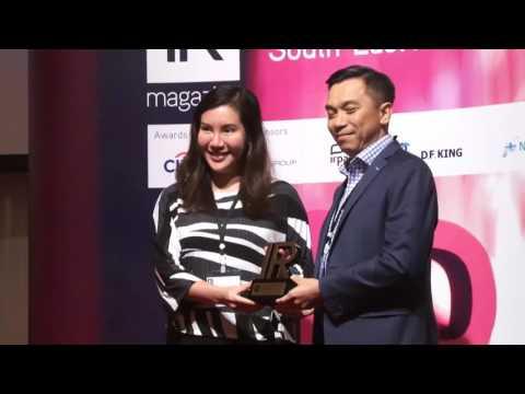 พิธีมอบรางวัล IR Magazine Awards – South East Asia 2016 (1/2)