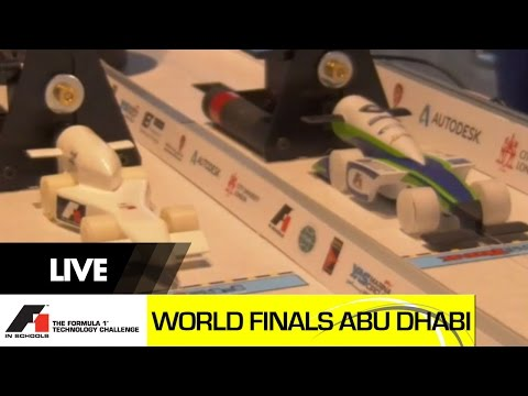 Abu Dhabi F1 in Schools World Finals 2014 Day 1 - Time Trial Racing