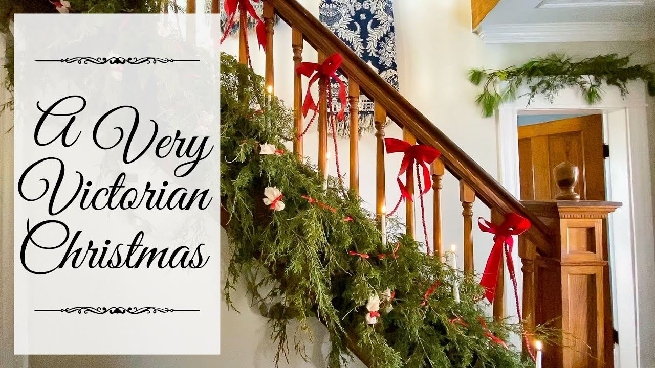 Victorian Christmas Decorations 1901 Christmas Decorating Youtube
