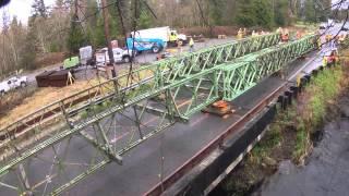 Temporary Bailey Bridge installation - March, 2014