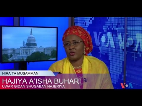 HEFL Hajia Mrs. Aisha Buhari at VOA Hausa - 08052016