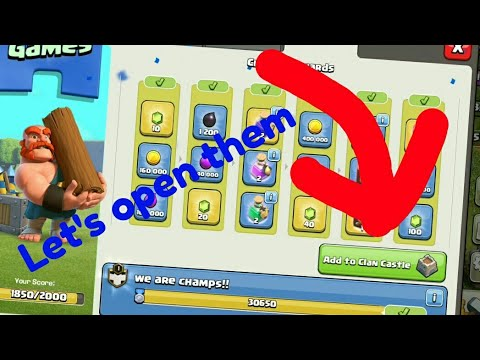 Opening all tiers. In clash of clans