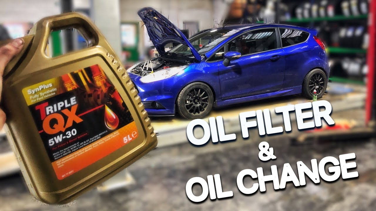 Fiesta St How To Change Your Oil Filter Oil Youtube