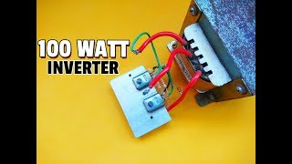 How To Make Simple 100 Watt Inverter..Simple Inverter Circuit 12V DC To 220V AC Using Mosfet..