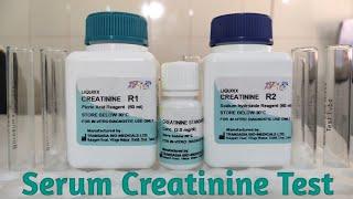 Serum Creatinine Test in Hindi || Creatinine test principle Procedure results and Normal valves ||