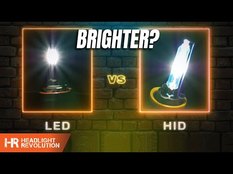 HID Vs LED - Which Is Brighter? 35w HID, 55w HID, And 5 Popular LED Headlight Bulbs