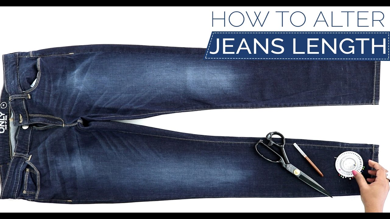 121bea8410c9 Class 33 - How to alter your Jeans length keeping the original hem - DIY