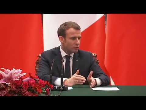 Emmanuel Macron :  Déclaration conjointe à la presse avec Xi Jinping à Pékin