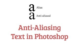 quick tip anti aliasing text in photoshop