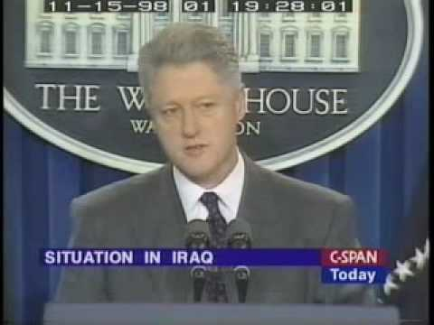 Bill Clinton and the Iraq Liberation Act of 1998