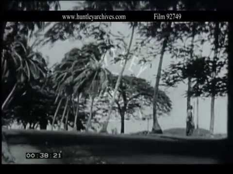 Village in Guinea, West Africa.  Archive film 92749
