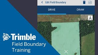 So Erstellen Sie ein Feld-Grenze | Mobile Training | Trimble Software Ag