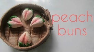 Polymer Clay Peach Bun Tutorial (miniature Mondays)