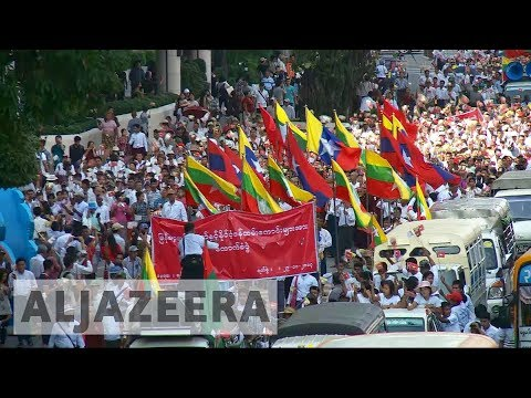 Myanmar: Thousands march in support of army despite crisis