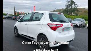 Toyota yaris occasion visible à Albi présentée par Toyota espace auto albi