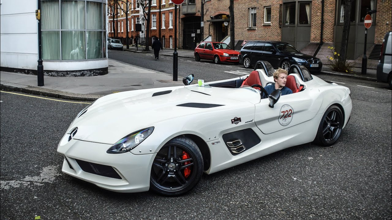mclaren slr stirling moss start revs and driving in london youtube. Black Bedroom Furniture Sets. Home Design Ideas