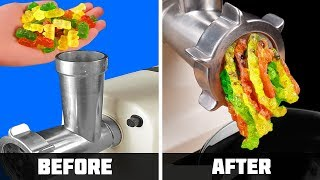 EXPERIMENT: MEAT GRINDER VS GUMMY BEARS