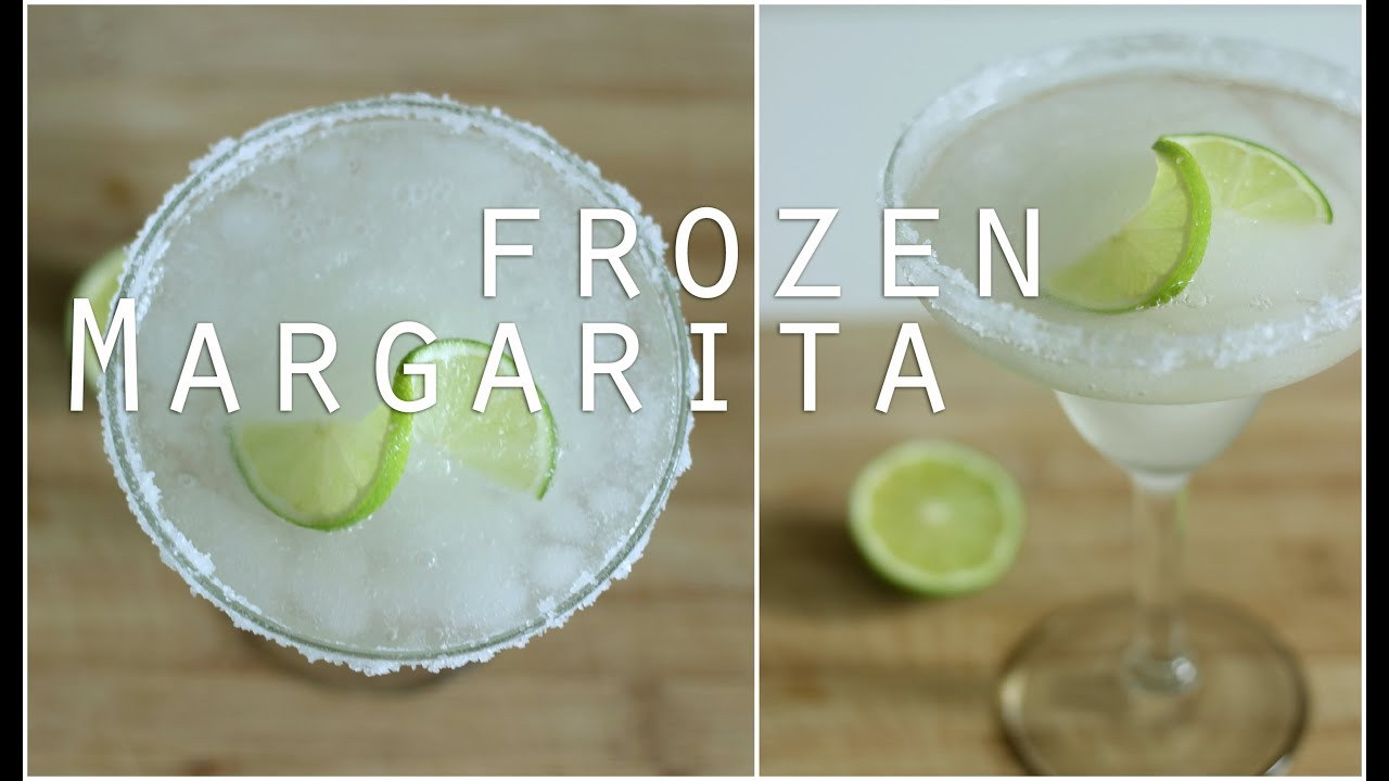 Frozen Margarita Recipe Cocktail Recipes Youtube